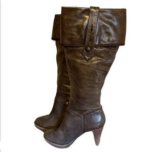 Rockport Brown Leather Boots - Women's Size 6